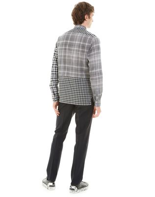 LANVIN BLACK CHECKED SHIRT Shirt U d