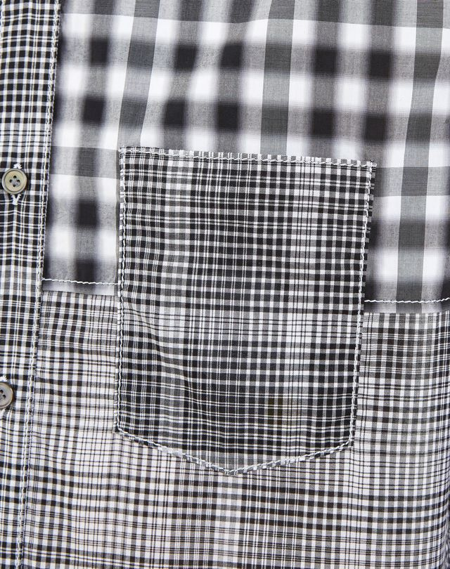LANVIN BLACK CHECKED SHIRT Shirt U a