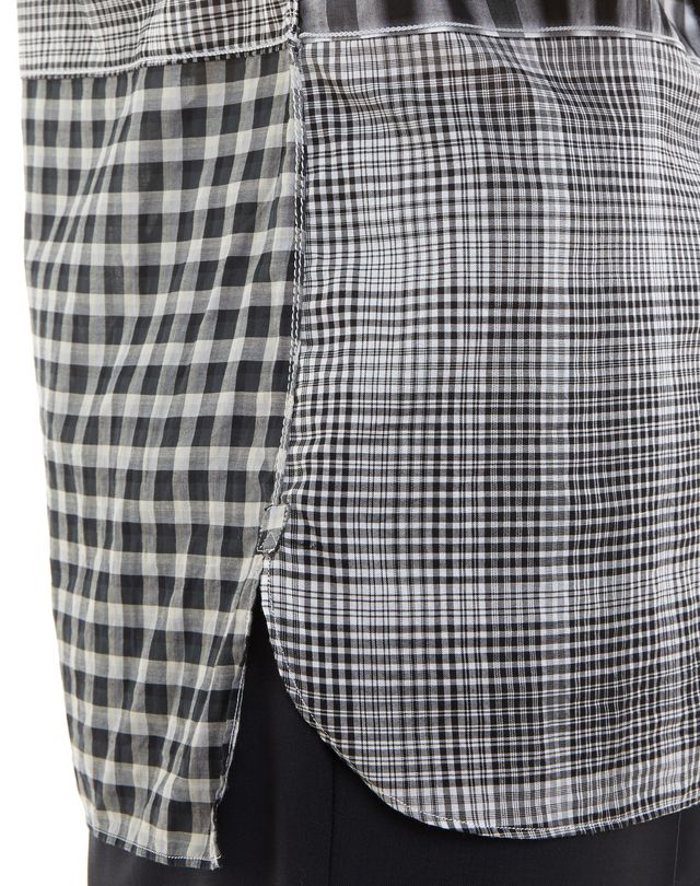 LANVIN BLACK CHECKED SHIRT Shirt U b