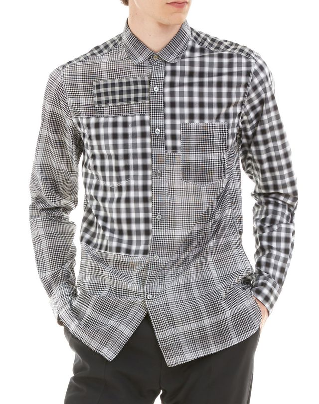 LANVIN BLACK CHECKED SHIRT Shirt U f
