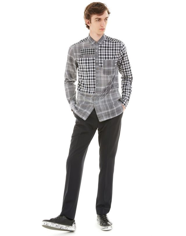 LANVIN BLACK CHECKED SHIRT Shirt U r