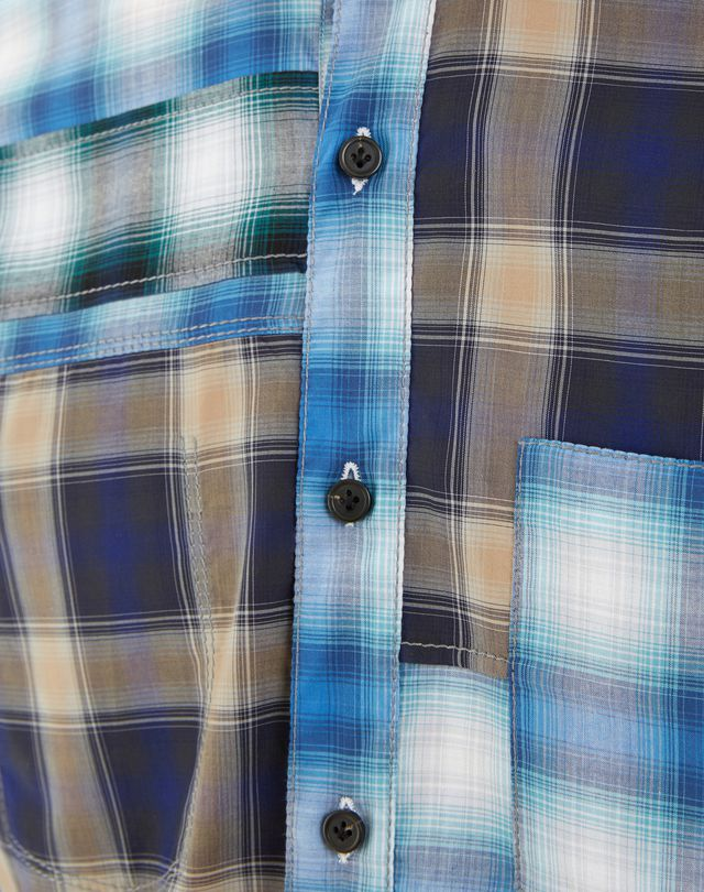 LANVIN BLUE CHECKED SHIRT Shirt U a