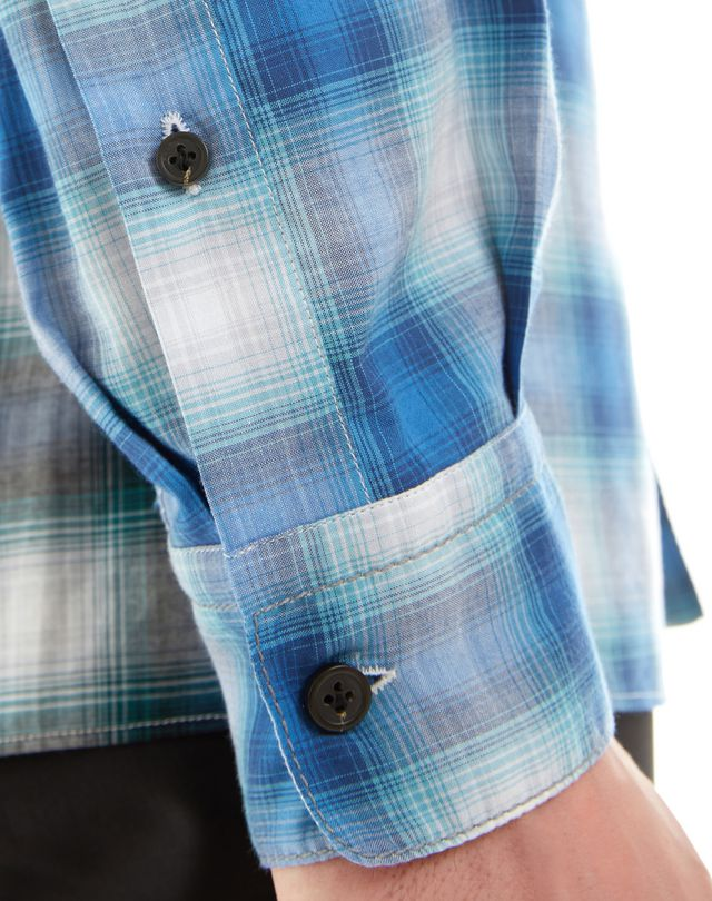 LANVIN BLUE CHECKED SHIRT Shirt U b