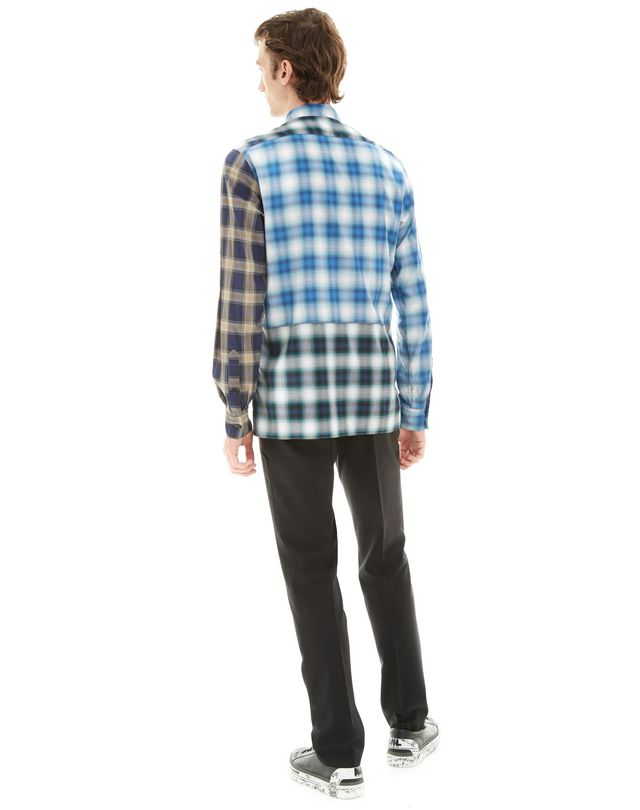 LANVIN BLUE CHECKED SHIRT Shirt U d