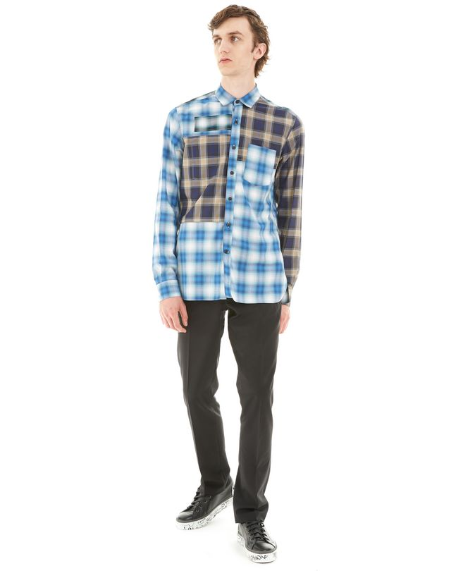 LANVIN BLUE CHECKED SHIRT Shirt U r