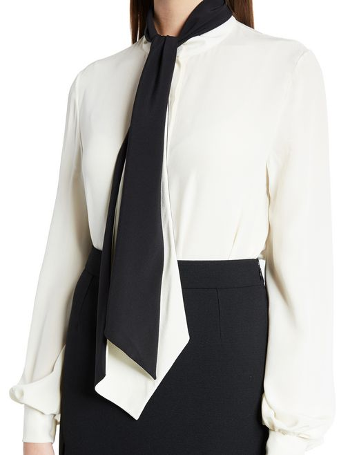 lanvin silk crêpe de chine blouse women