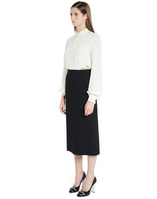 LANVIN SILK CRÊPE DE CHINE BLOUSE Top D d