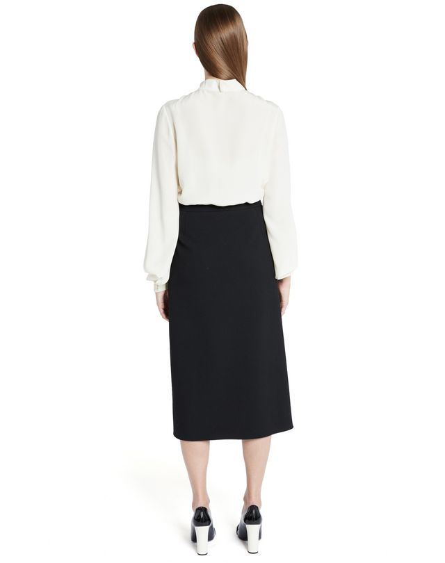 LANVIN SILK CRÊPE DE CHINE BLOUSE Top D e