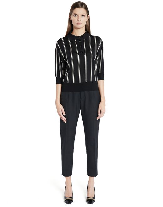 lanvin intarsia viscose knit top women