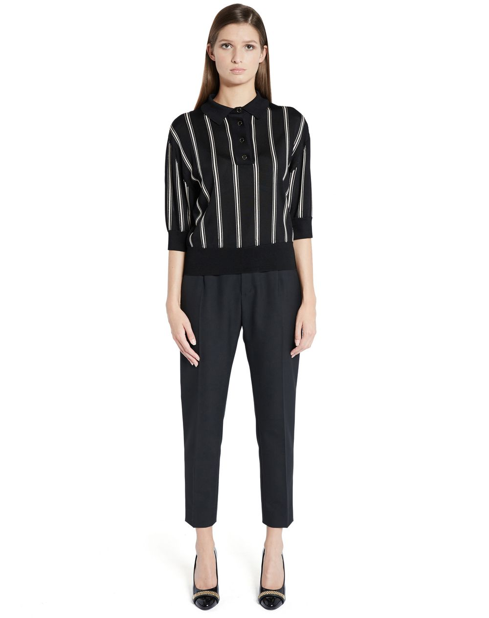 INTARSIA VISCOSE KNIT TOP - Lanvin