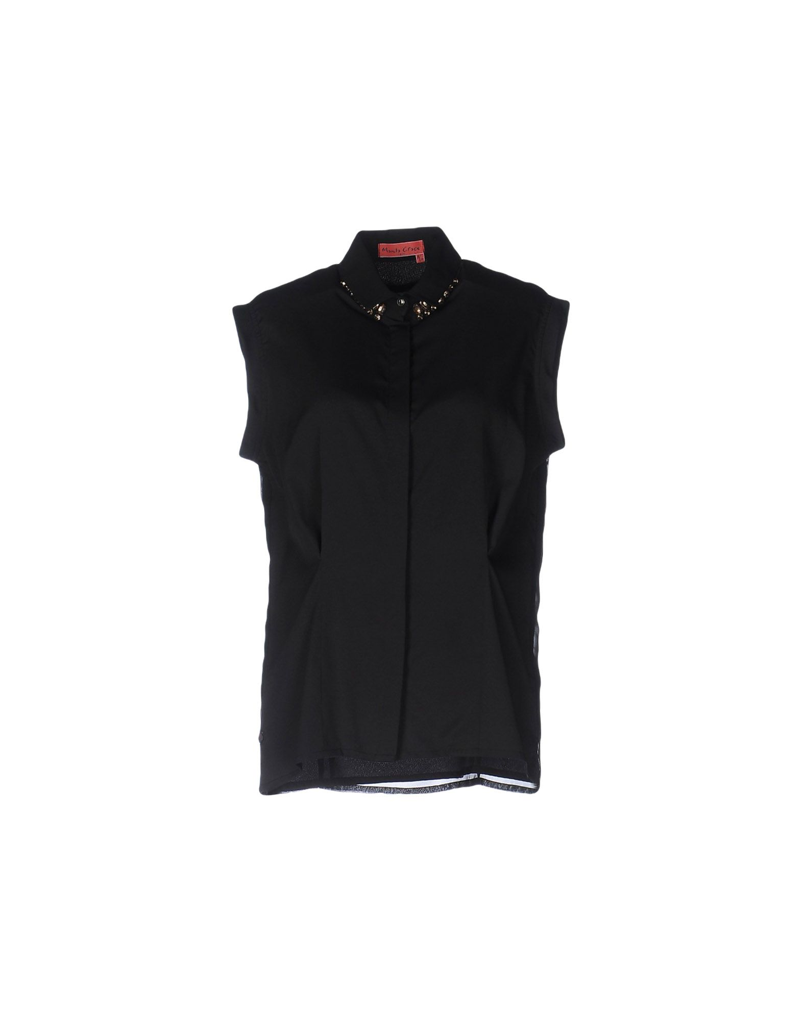 《セール開催中》MANILA GRACE DENIM レディース シャツ ブラック 42 ポリエステル 100%