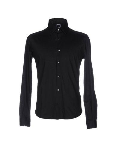 BAGUTTA メンズ シャツ ブラック XL コットン 100%