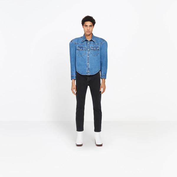 BALENCIAGA shirts U Boxy Denim Overshirt g