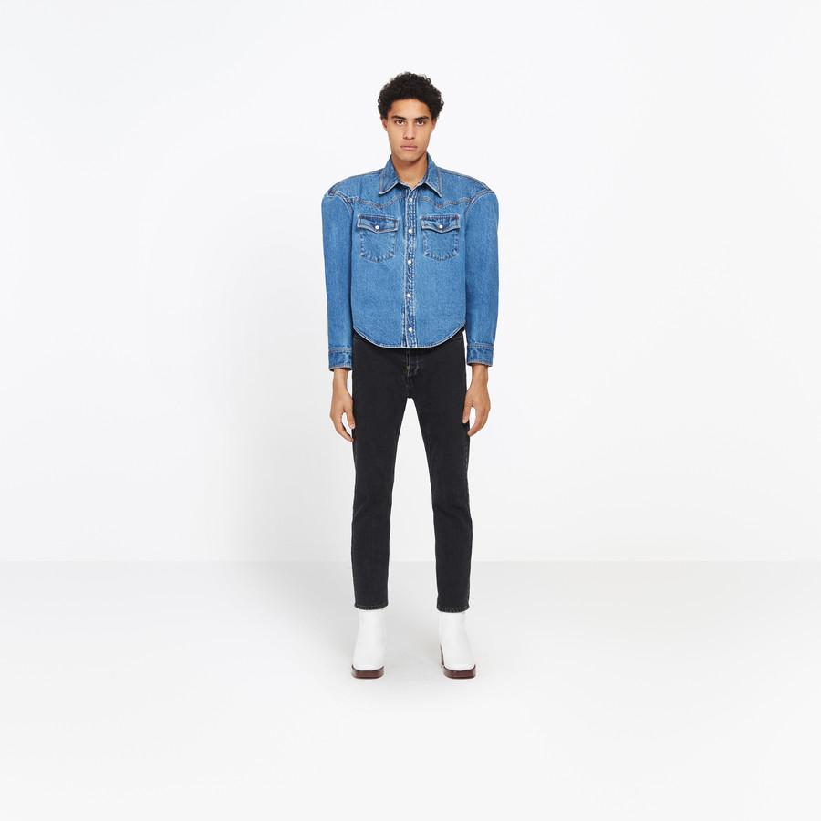 BALENCIAGA Boxy Denim Overshirt shirts U f