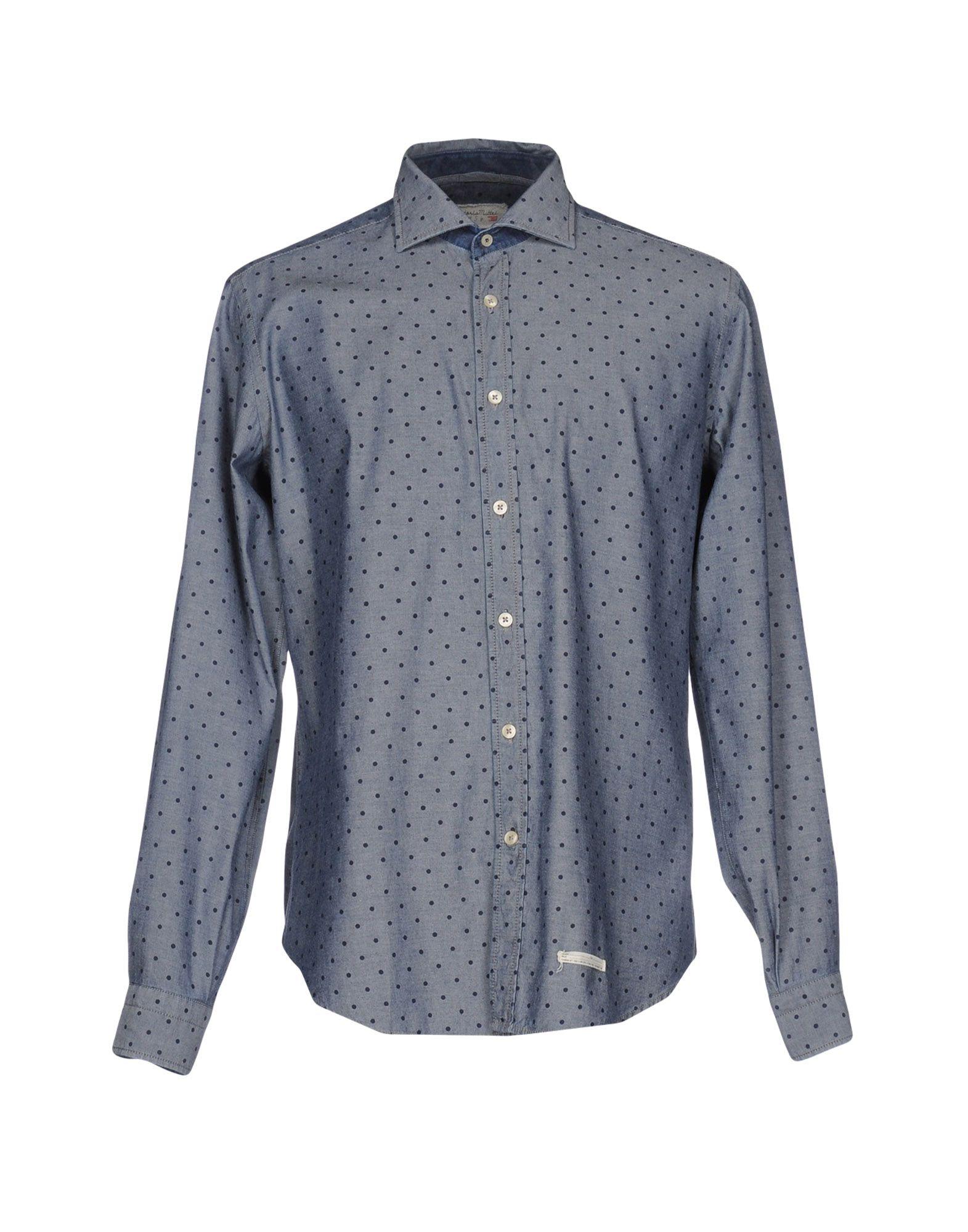 TINTORIA MATTEI 954 Джинсовая рубашка tintoria mattei 954 джинсовая рубашка