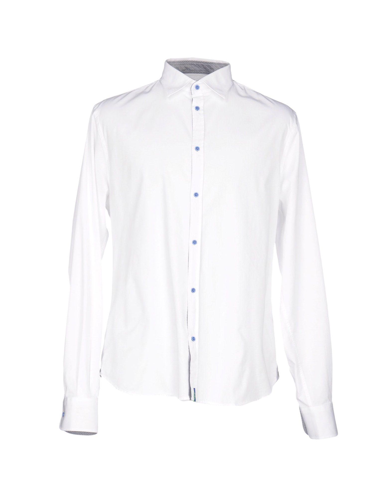 《期間限定 セール開催中》DIMATTIA メンズ シャツ ホワイト 38 コットン 100%