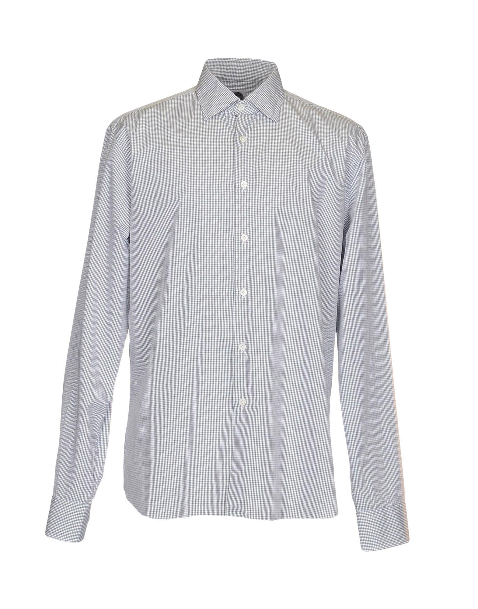 《送料無料》BAGUTTA メンズ シャツ グレー 38 コットン 100%