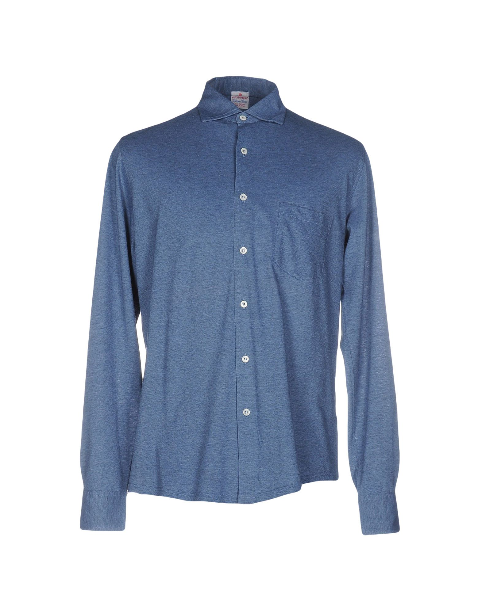 NAPOLEONERBA Patterned Shirt in Blue