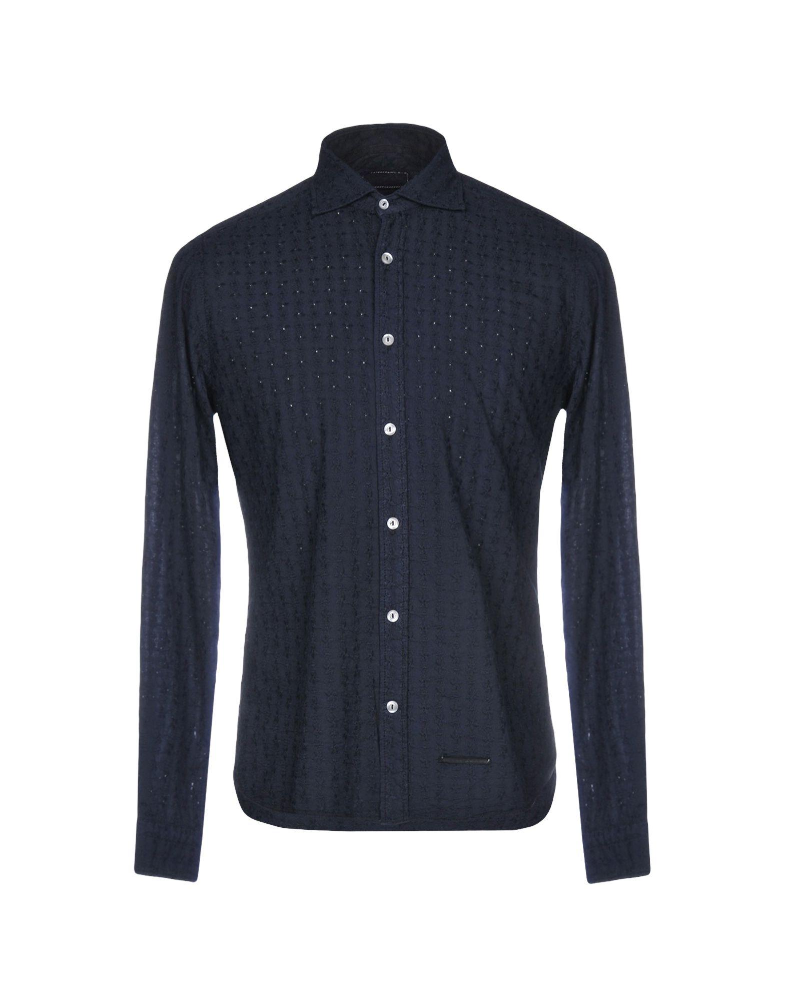 《送料無料》TINTORIA MATTEI 954 メンズ シャツ ダークブルー 39 コットン 100%