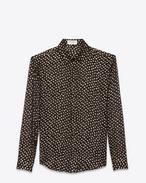 SAINT LAURENT Camicie Classiche D Classic Black and Gold Polka Dot Shirt f