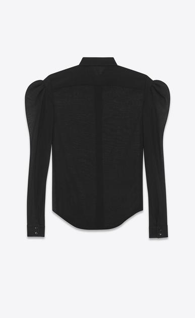 SAINT LAURENT Classic Shirts D drop puff sleeve shirt in black virgin wool b_V4