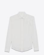 SAINT LAURENT Klassische Hemden D Klassische Shell-Bluse mit Rüschen f