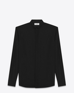 SAINT LAURENT Classic Shirts U Black REPLIÉ Collar Shirt f