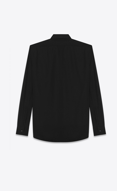 SAINT LAURENT Classic Shirts U replié collar shirt in black cotton voile b_V4