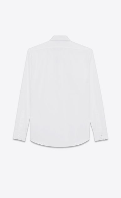 SAINT LAURENT Classic Shirts Man yves collar shirt in white cotton poplin b_V4