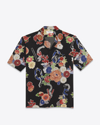 "SAINT LAURENT Camicie Casual U Multicolor ""LOVE"" Print Short Sleeve Leisure Shirt f"