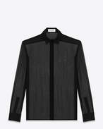 SAINT LAURENT Classic Shirts U Black Blouson Sleeve Shirt f