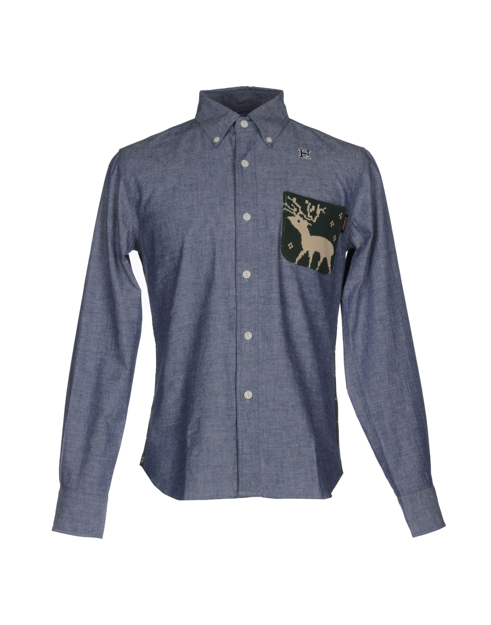 HBNS Solid Color Shirt in Blue