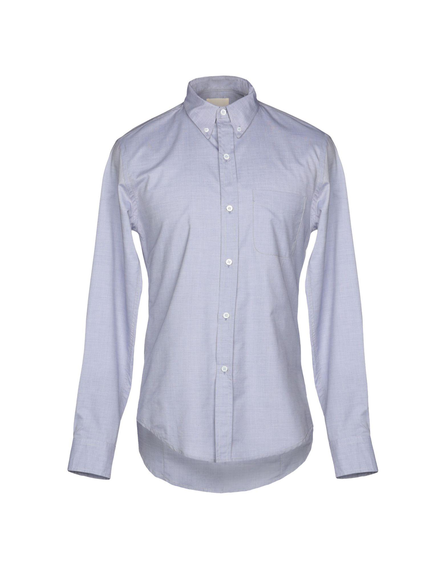 《送料無料》BAND OF OUTSIDERS メンズ シャツ ブルーグレー 1 コットン 100%
