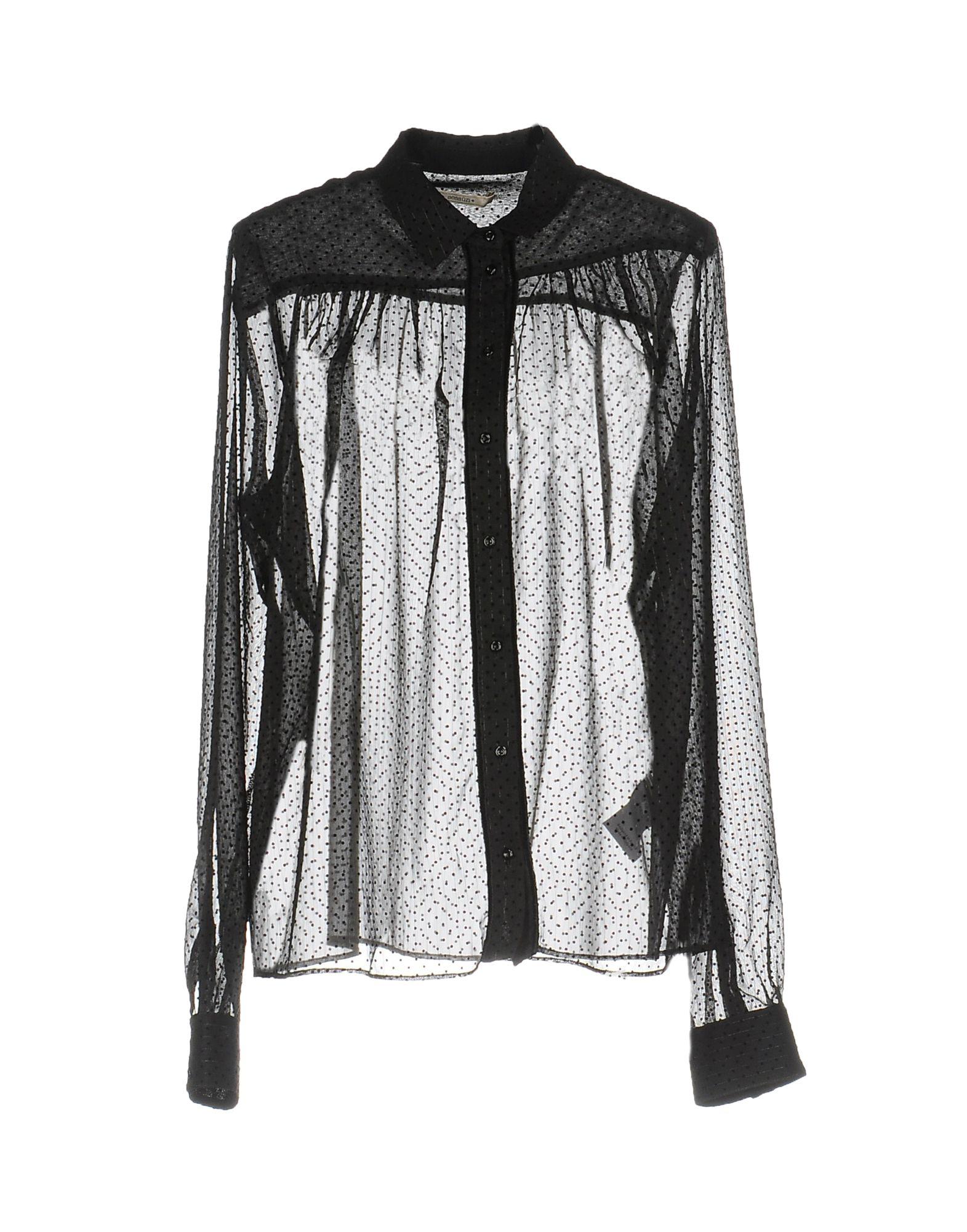 《送料無料》SESSUN レディース シャツ ブラック L ポリエステル 100%