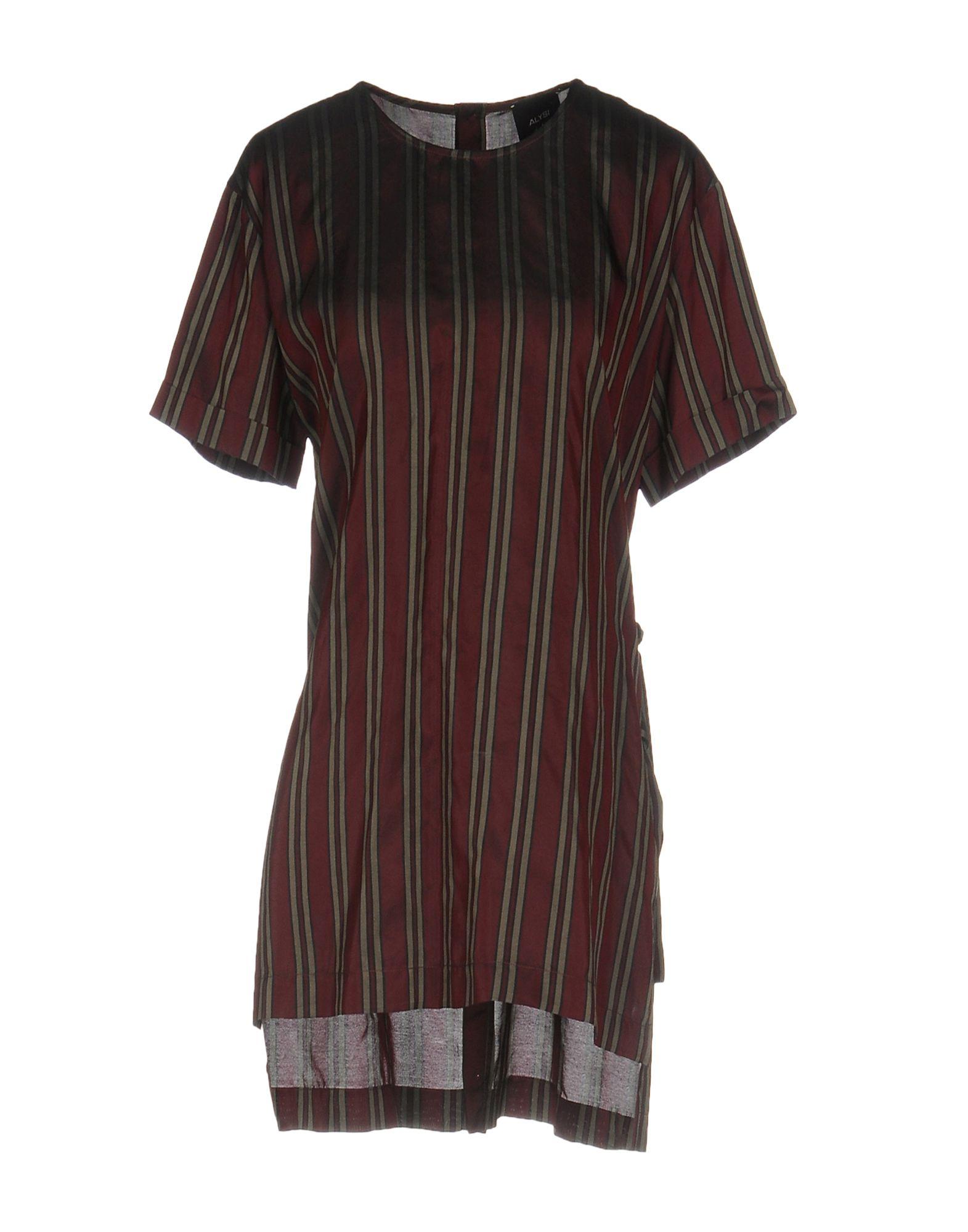 ALYSI Блузка блузка с рисунком короткие рукава вырез сзади