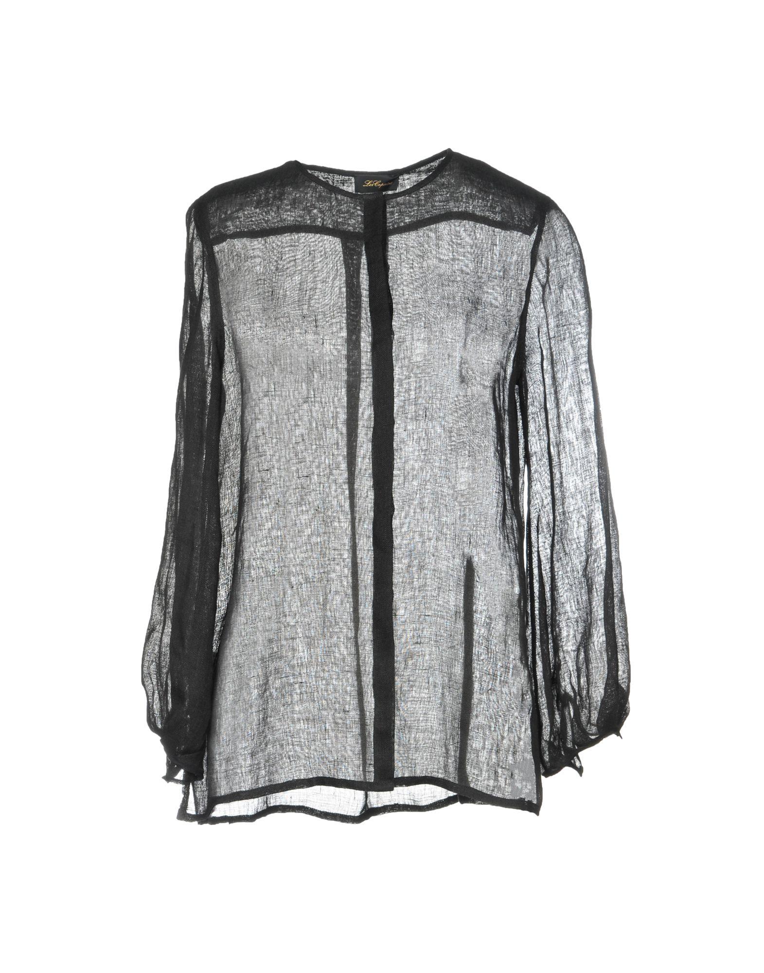 《送料無料》LES COPAINS レディース シャツ ブラック 40 100% 麻