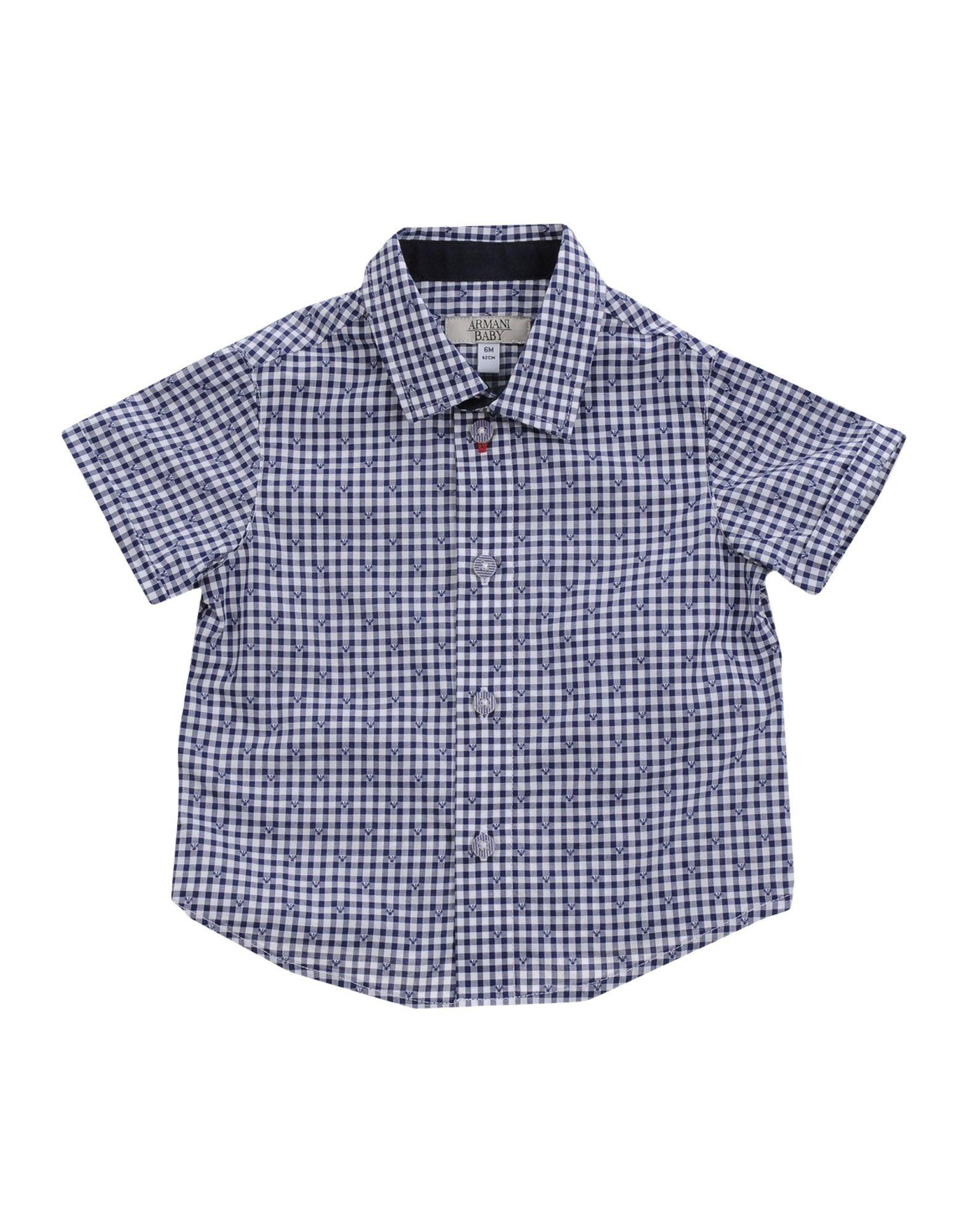 ARMANI JUNIOR シャツ ブルー