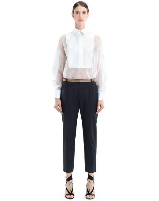lanvin organza blouse women