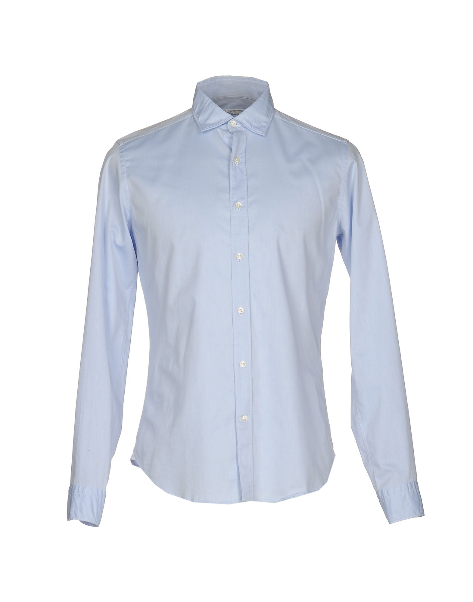 《セール開催中》G.F. & CO. メンズ シャツ スカイブルー 38 コットン 100%