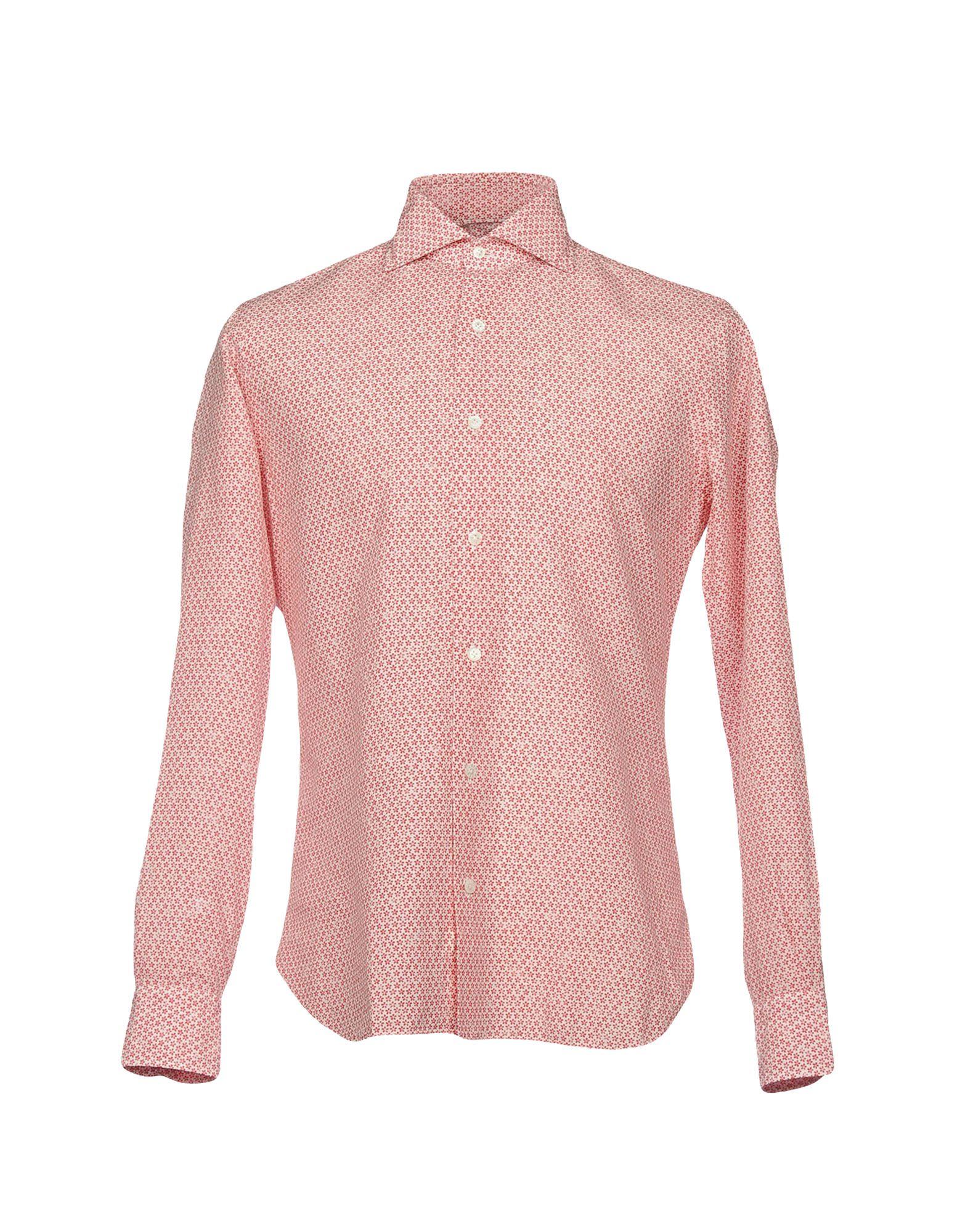 DANDYLIFE by BARBA Herren Hemd Farbe Rot Größe 4 jetztbilligerkaufen