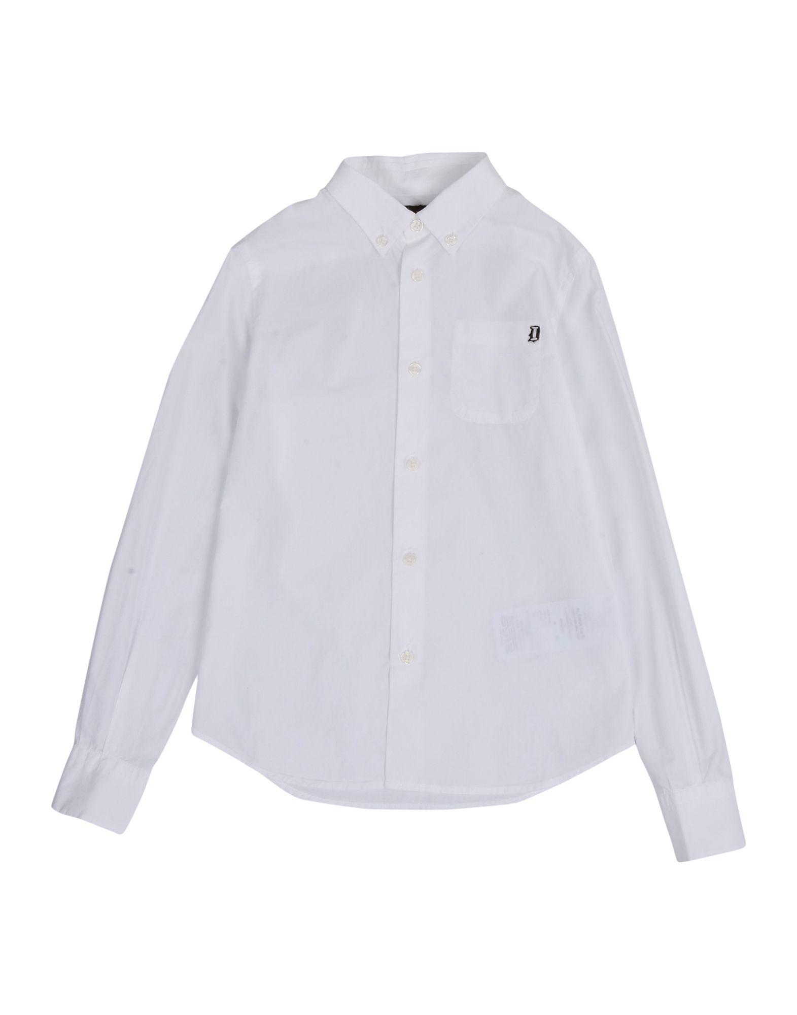 DONDUP DKING Jungen 3-8 jahre Hemd Farbe Weiß Größe 6 jetztbilligerkaufen