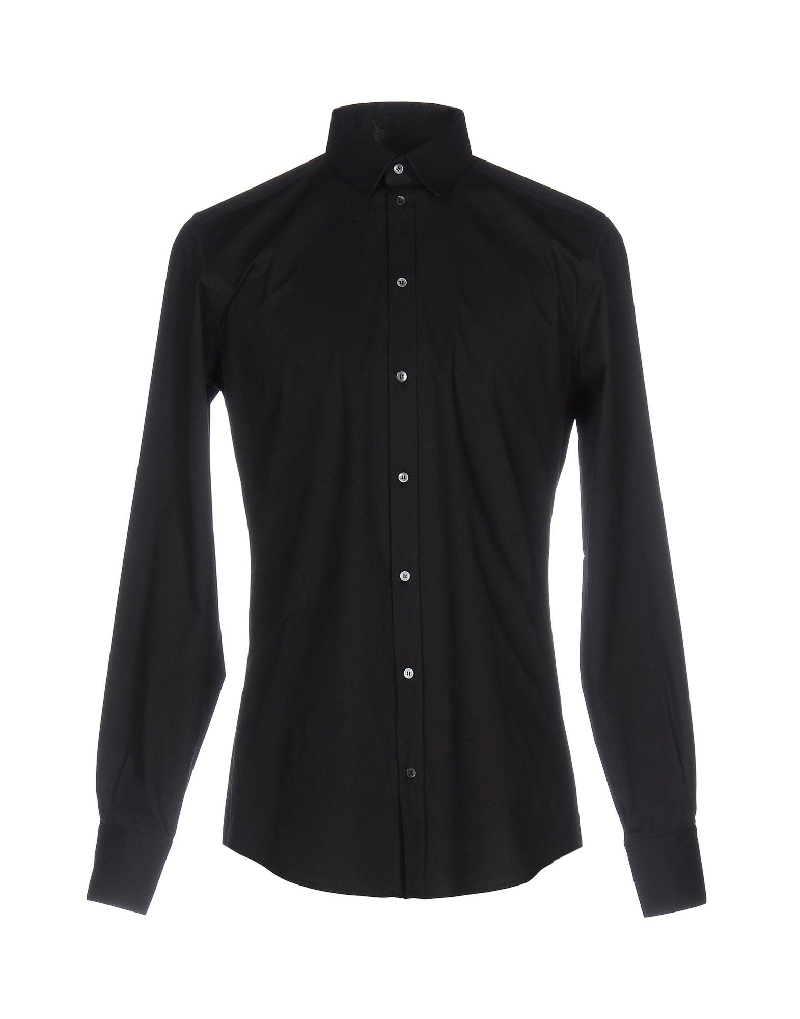 DOLCE & GABBANA Herren Hemd Farbe Schwarz Größe 3 jetztbilligerkaufen