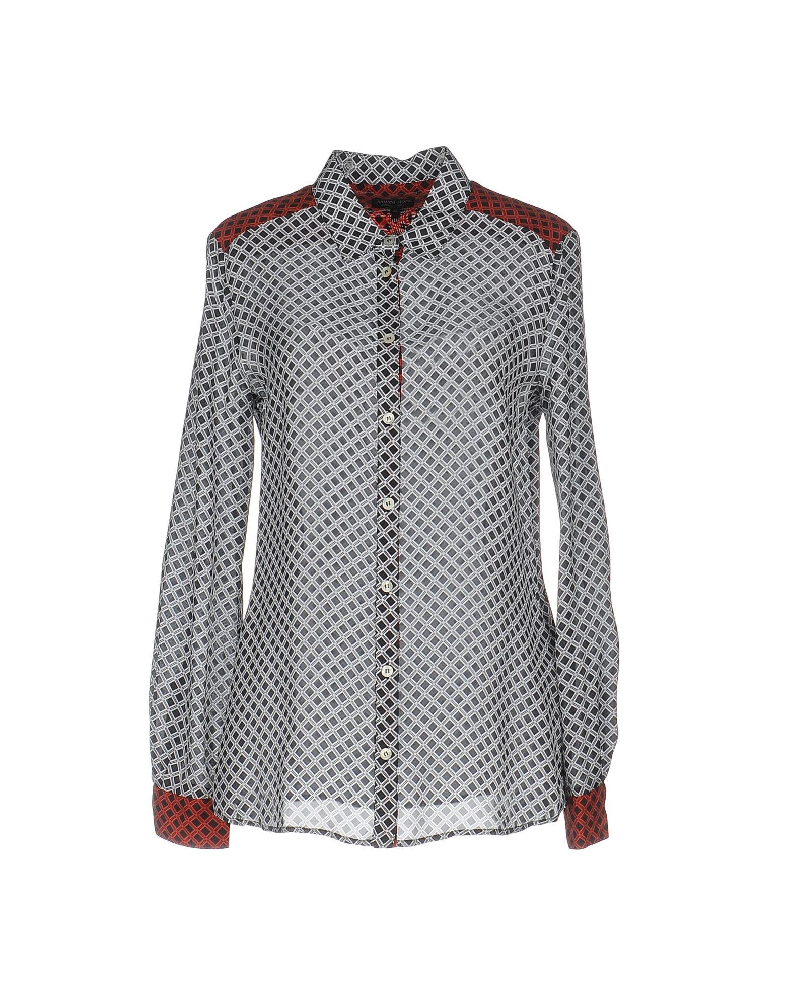 ARMANI JEANS Damen Hemd Farbe Schwarz Größe 6 jetztbilligerkaufen