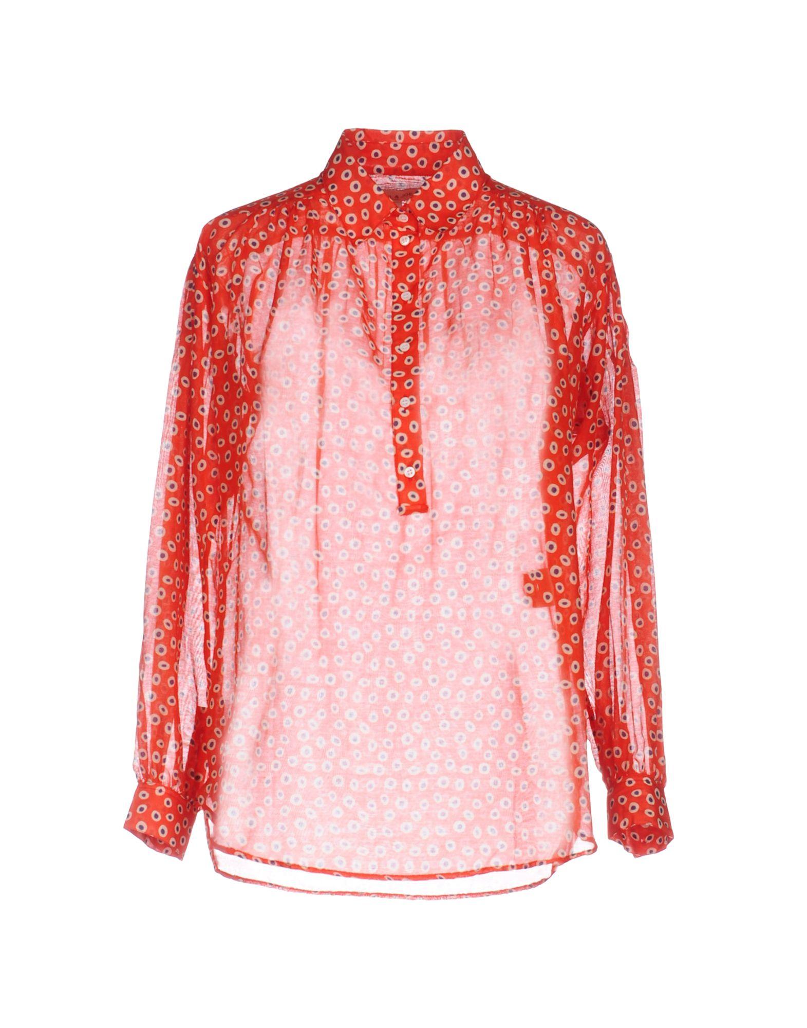 PAUL & JOE Damen Hemd Farbe Rot Größe 5 jetztbilligerkaufen