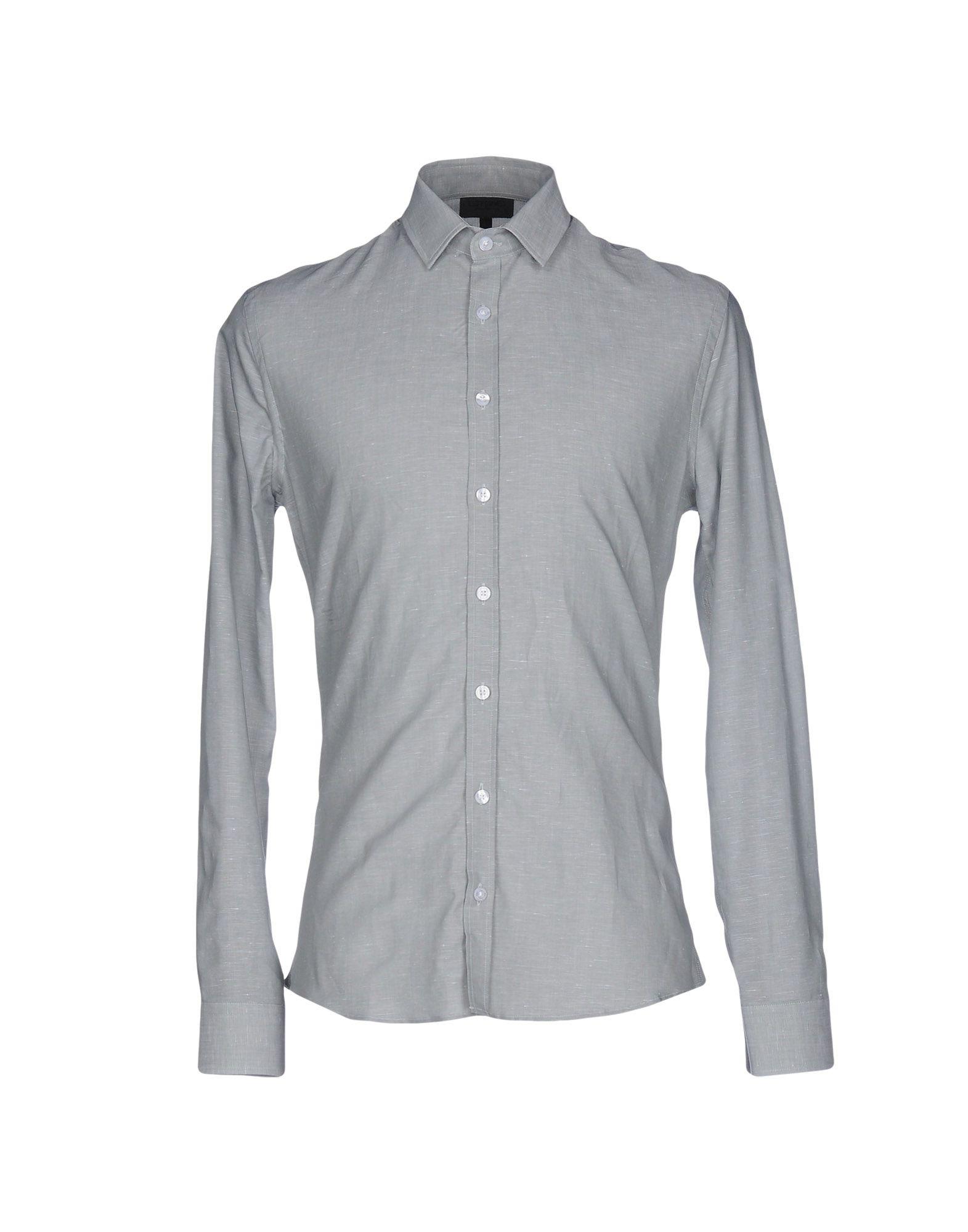 LES HOMMES Herren Hemd Farbe Hellgrau Größe 5 jetztbilligerkaufen