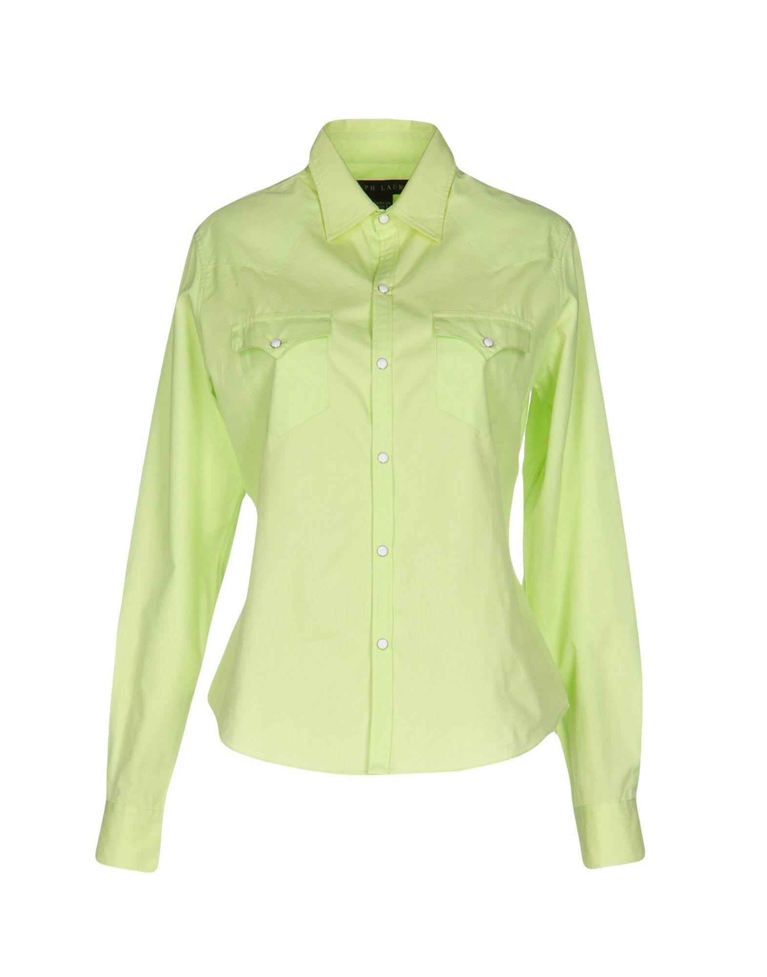 RALPH LAUREN BLACK LABEL Damen Hemd Farbe Hellgrün Größe 5 jetztbilligerkaufen