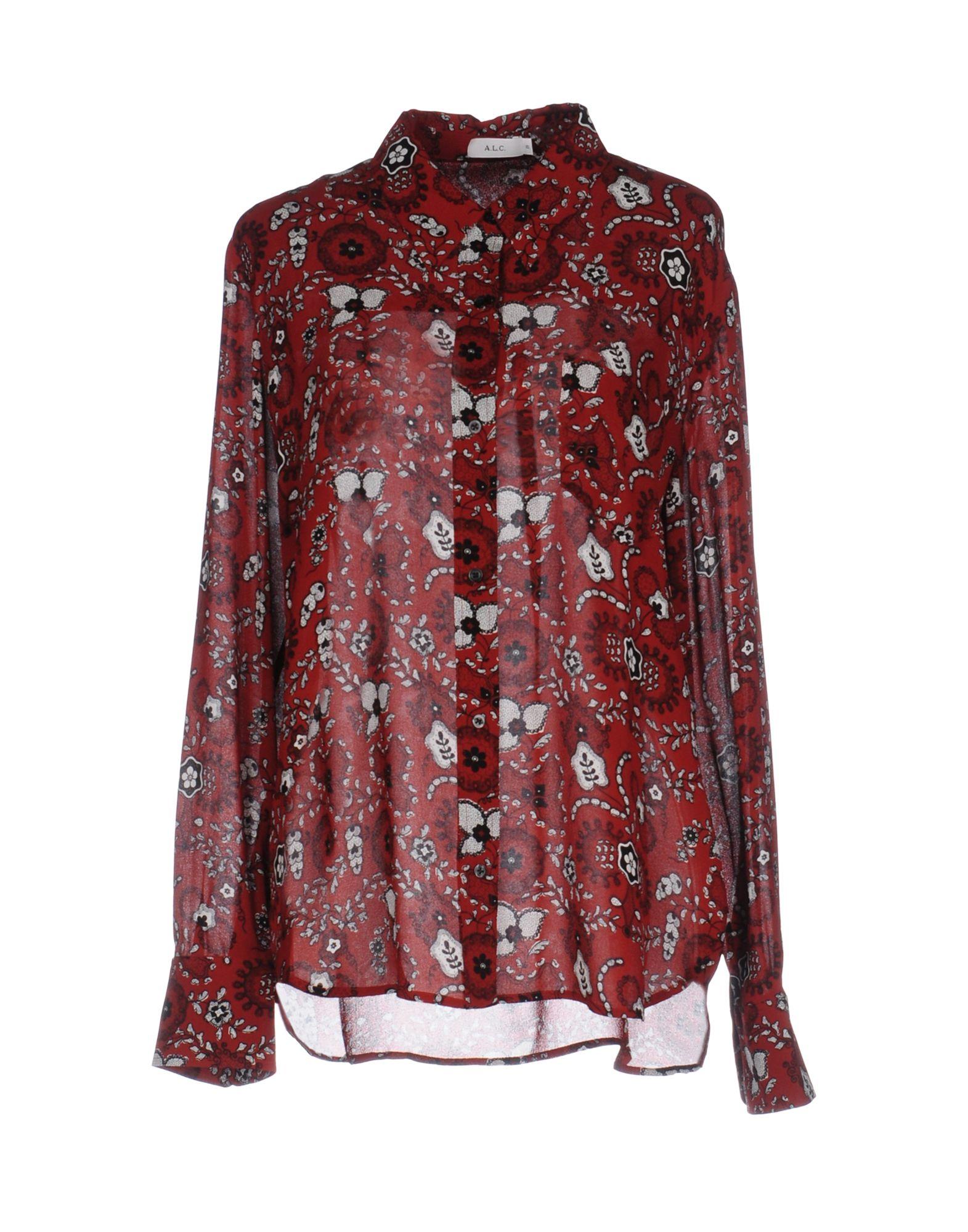 A.L.C. Damen Hemd Farbe Ziegelrot Größe 6 jetztbilligerkaufen