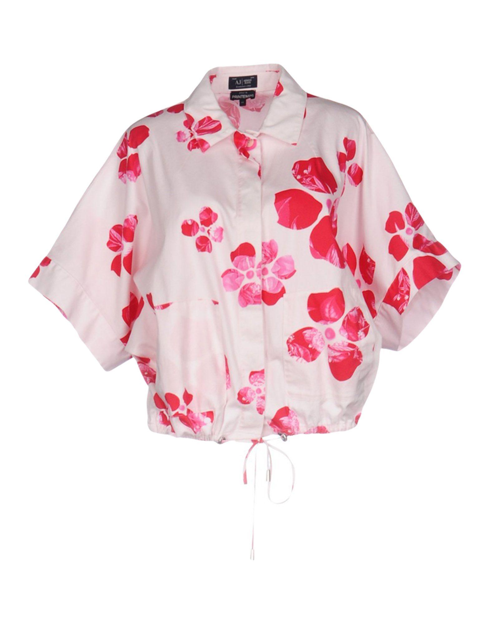 ARMANI JEANS Damen Hemd Farbe Hellrosa Größe 5 jetztbilligerkaufen