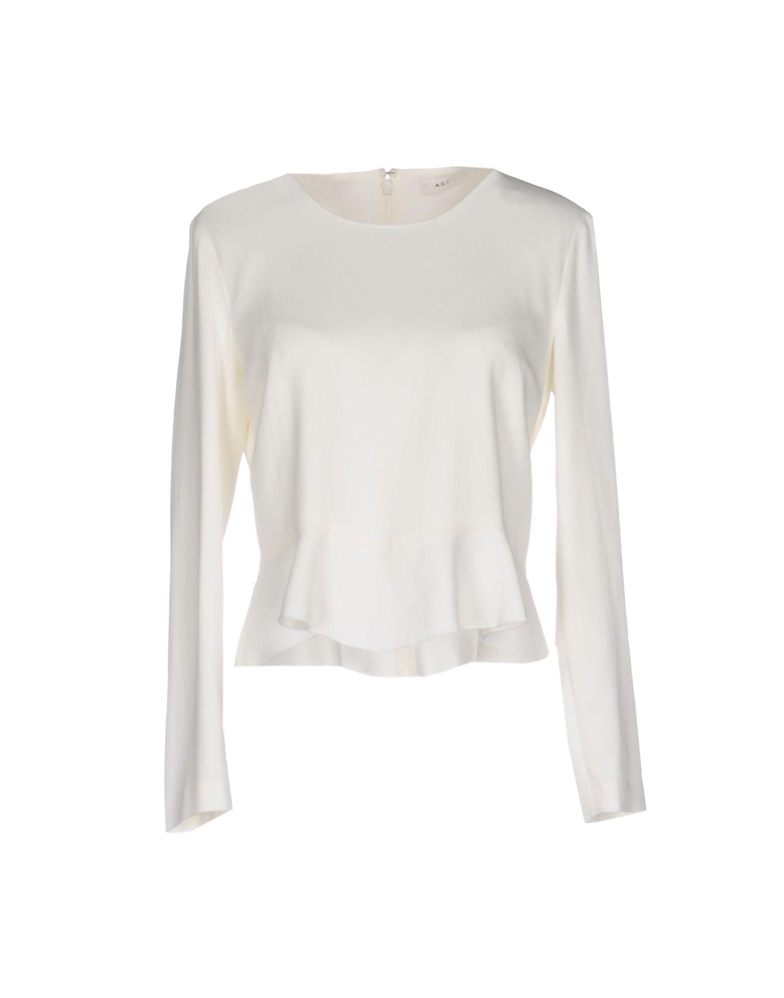 A.L.C. Damen Bluse Farbe Weiß Größe 4 jetztbilligerkaufen