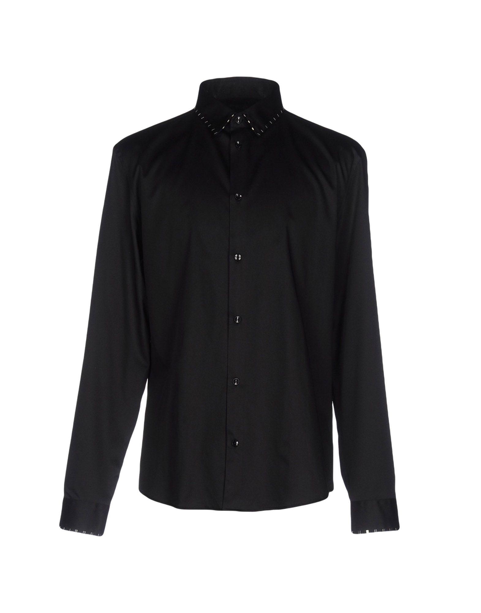 VERSACE COLLECTION Herren Hemd Farbe Schwarz Größe 9 jetztbilligerkaufen